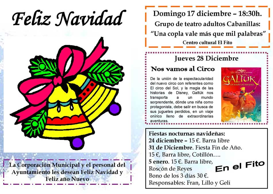 Programa actividades Navidad 2017 - Ayuntamiento de Cabanillas de la ...