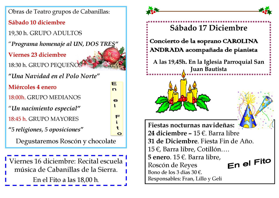 Programa actividades Navidad 2016 - Ayuntamiento de Cabanillas de la ...